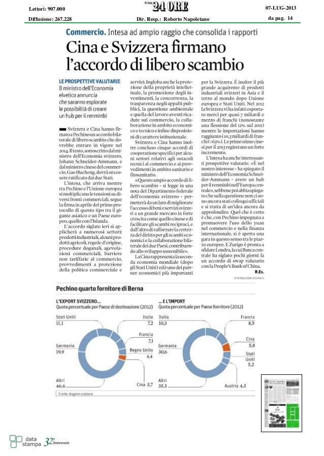 da pag. 14 07-LUG-2013 Diffusione: 267.228 Lettori: 907.000 Dir. Resp.: Roberto Napoletano