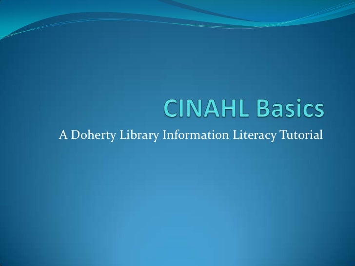 A Doherty Library Information Literacy Tutorial