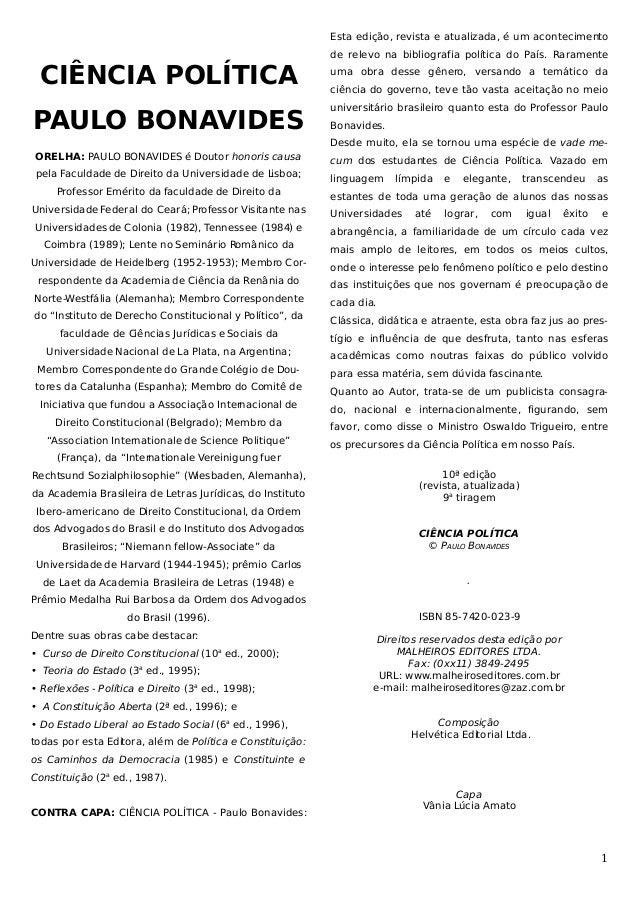 Esta edição, revista e atualizada, é um acontecimento de relevo na bibliografia política do País. Raramente  CIÊNCIA POLÍT...