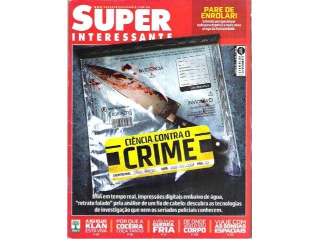 Ciências contra crime