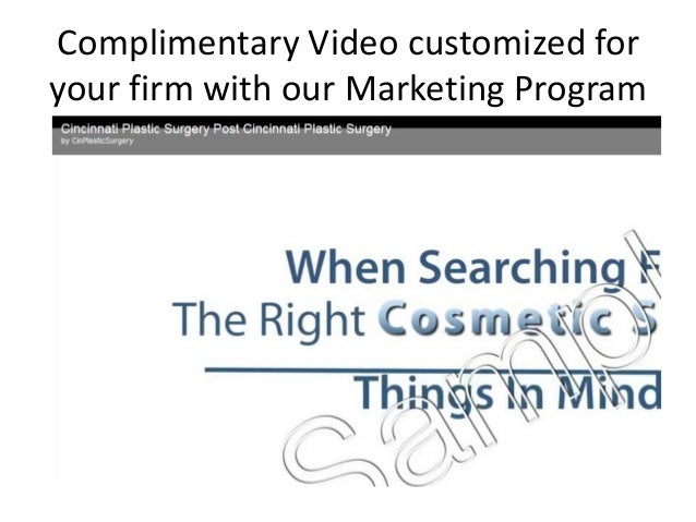 Complimentary Video customized foryour firm with our Marketing Program