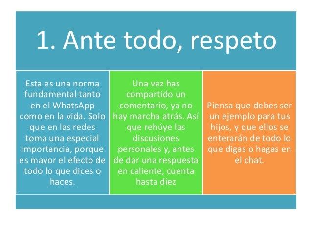 Cinco normas para el buen uso del whatsapp  Slide 3