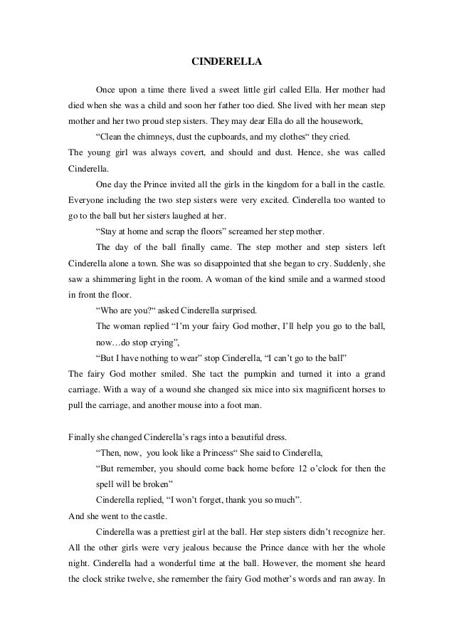 the variations of cinderella stories essay Cinderella stories nearly every culture has a cinderella story, and for every classic there is a parody this list is for kid's picture books all votes add.
