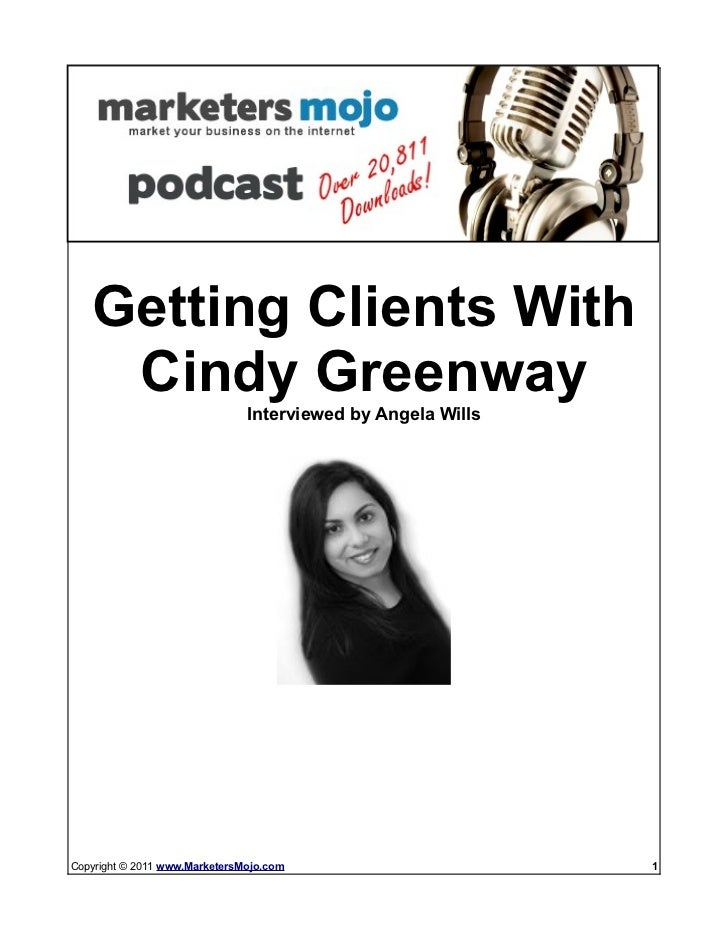 Dont Stuggle To Get GREAT Clients: Check out Cindys VA Formula   Getting Clients With    Cindy Greenway                   ...