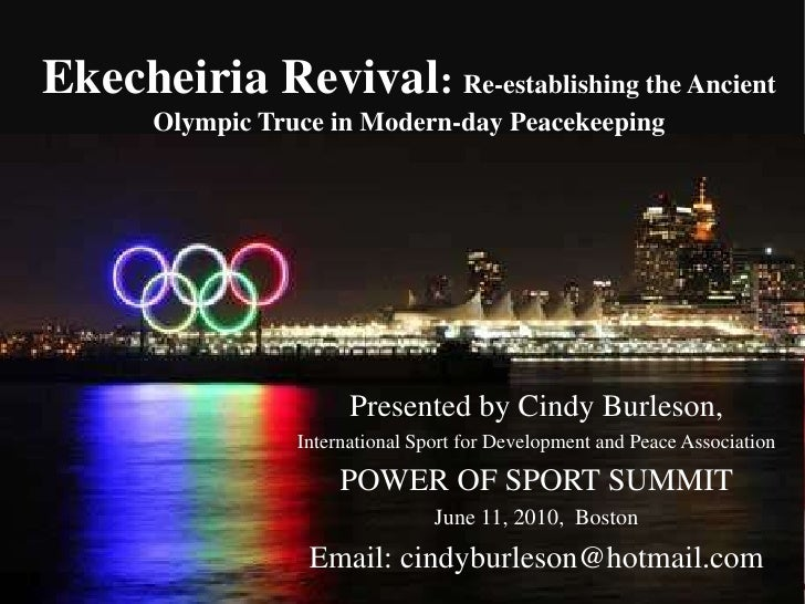 Ekecheiria Revival: Re-establishing the Ancient Olympic Truce in Modern-day Peacekeeping<br />General Assembly Appeals for...