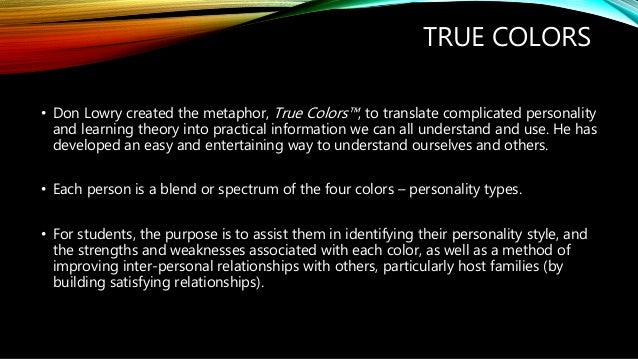 Personality and Communication - True Colors