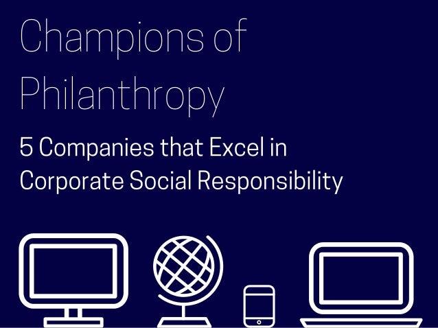 Champions of Philanthropy