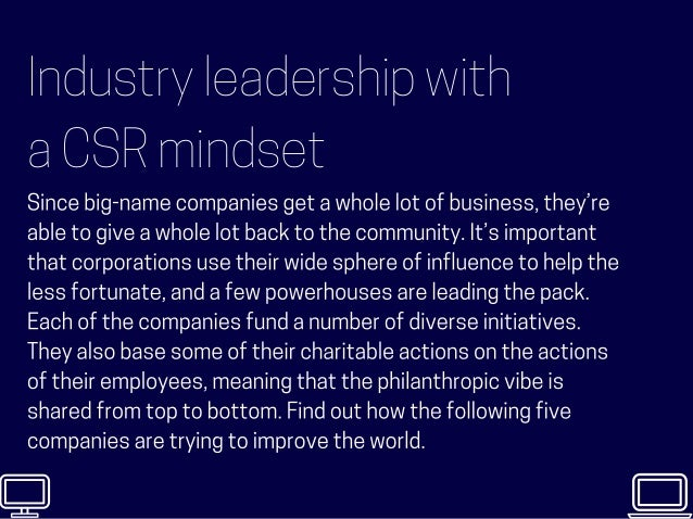 5 Companies that Champion Philanthropy Slide 2
