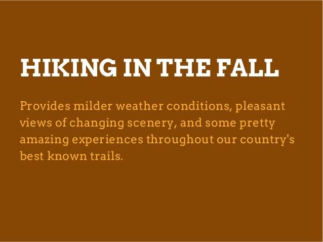 Best Fall Hiking Trips by Cindy Laquidara Slide 2