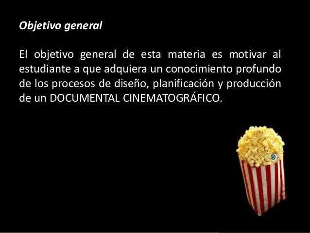 Cine for Objetivo general de un vivero