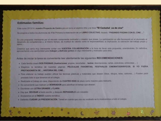 Cine libro viajero EL CINE 3º primaria 2013-14 Slide 2