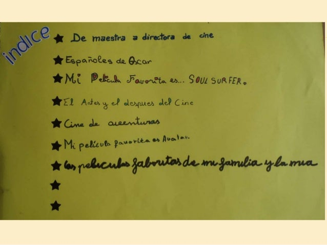 Cine libro viajero EL CINE 3º primaria 2013-14 Slide 3