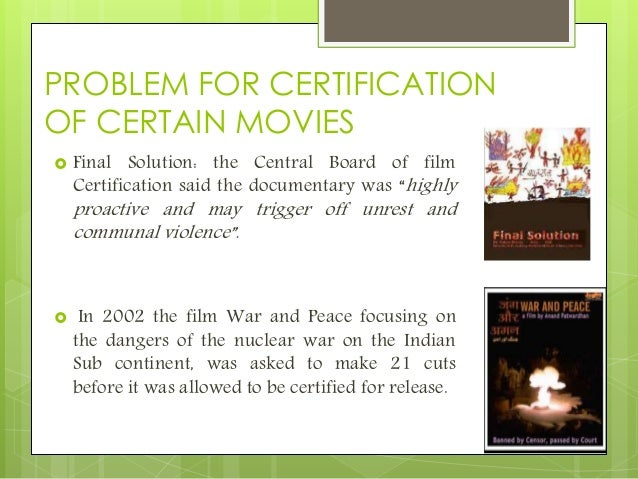 censorship in indian cinema This is a big moment for indian cinema, and for me personally if you've been following along these last two years, you might recall the central board of film certification's decisions about the length of the kiss in spectre, censoring drugs and the state of punjab in a film about the drug crisis in punjab,.
