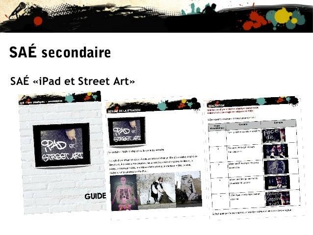 SAÉ secondaire SAÉ «iPad et Street Art»