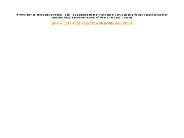 Cinema Movie Trailers Online Free Sweeney Todd The Demon Barber Of F