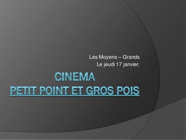 Les Moyens – Grands   Le jeudi 17 janvier.