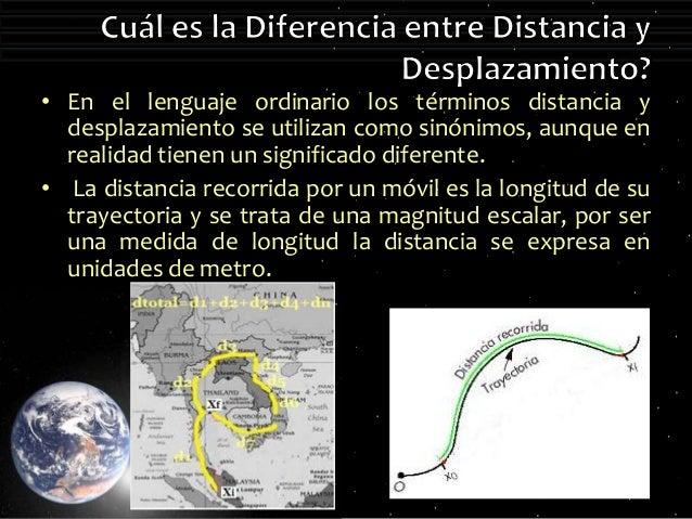 Cinematica diferencia entre distancia y desplazamiento for Diferencia entre yeso y escayola