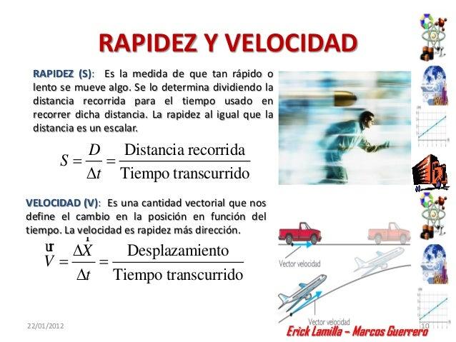 RAPIDEZ Y VELOCIDAD RAPIDEZ (S): Es la medida de que tan rápido o lento se mueve algo. Se lo determina dividiendo la dista...