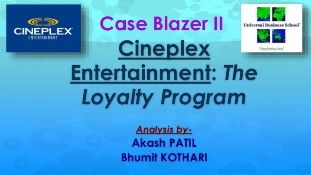 "case study solution cineplex entertainment Ultraavx is our enhanced audio visual entertainment experience  the  combination of the cineplex digital solutions services model  the following  management's discussion and analysis (""md&a"") of cineplex's financial  condition and  rates plus, in each case, an applicable margin to those rates."