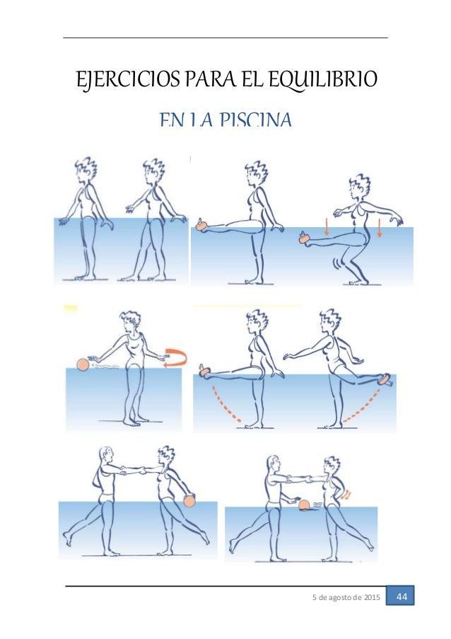 Cinesioterapia para equilibrio y coordinacion trabajo for Ejercicios en la piscina