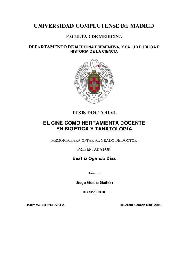 UNIVERSIDAD COMPLUTENSE DE MADRID                          FACULTAD DE MEDICINA DEPARTAMENTO DE MEDICINA PREVENTIVA, Y SAL...