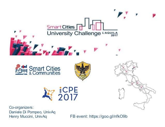 FB event: https://goo.gl/nfkO9b Co-organizers: Daniele Di Pompeo, UnivAq Henry Muccini, UnivAq
