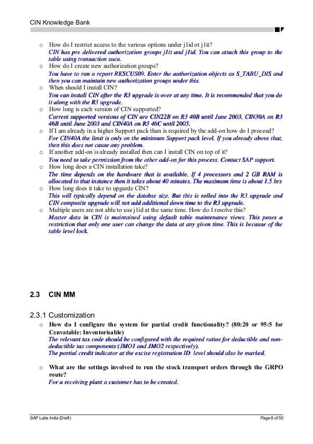 cin knowledge bank 8