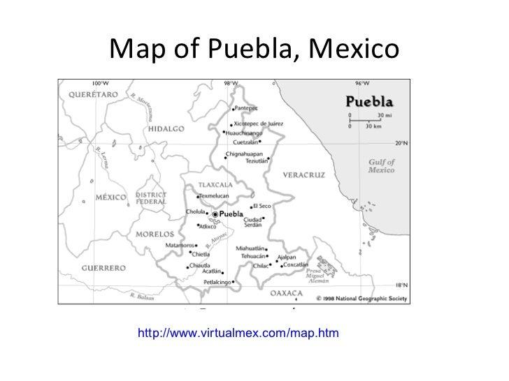Cinco de mayo – Map Puebla Mexico