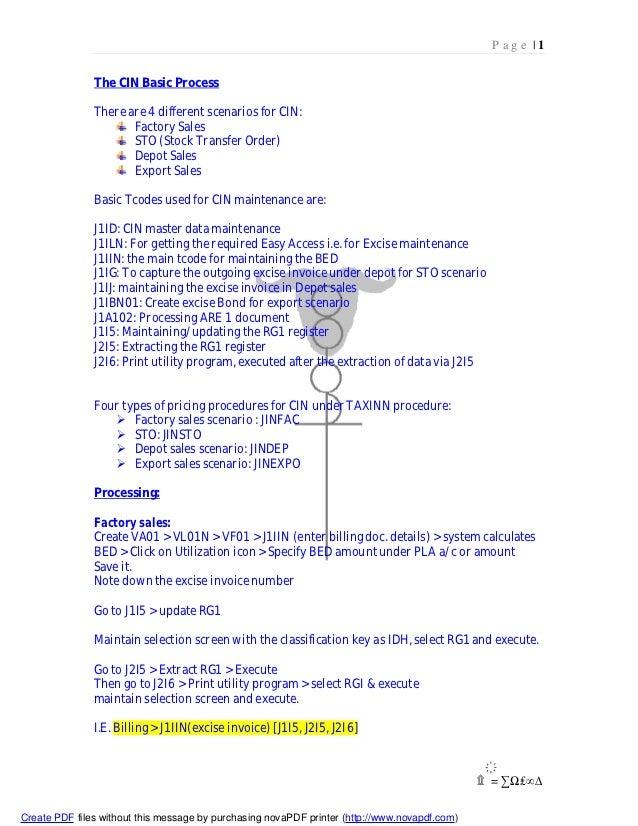 SAP SD Cin process and their procedure