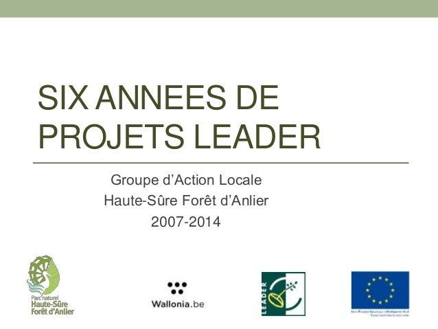 Cinq années de projets leader