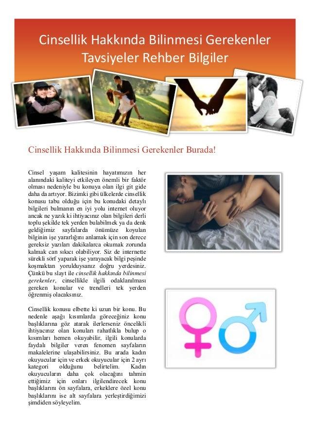 Cinsellik Hakkında Bilinmesi Gerekenler Burada! Cinsel yaşam kalitesinin hayatımızın her alanındaki kaliteyi etkileyen öne...