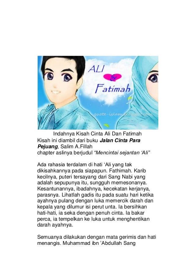 kisah cinta ali dan fatimah