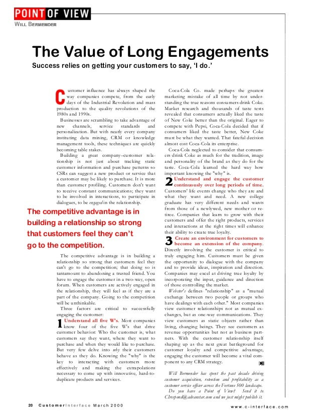 The Value of Long Engagements Success relies on getting your customers to say, 'I do.' Customer influence has always shape...