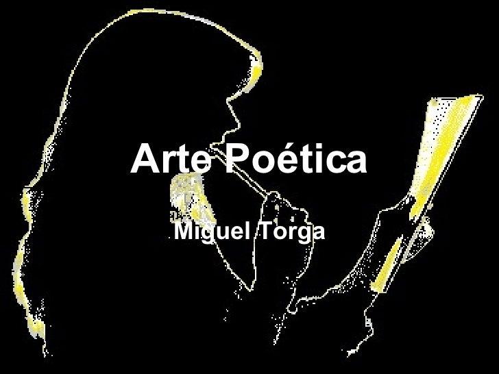 Arte Poética Miguel Torga