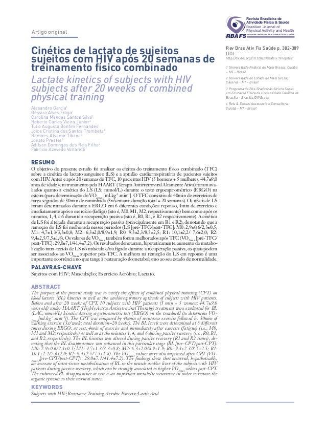Artigo original  RBAFS  SOCIEDADE BRASILEIRA DE ATIVIDADE FÍSICA E SAÚDE  RBAFS  Revista Brasileira de  Atividade Física &...