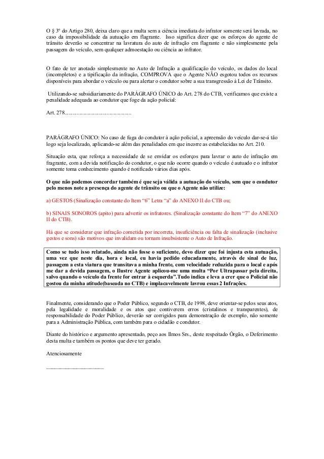 Artigo 280 ctb