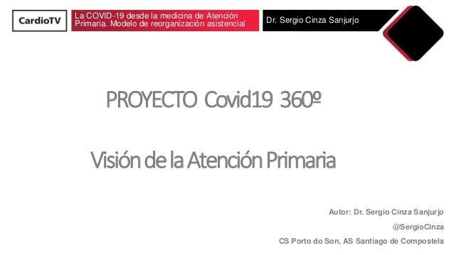 La COVID-19 desde la medicina de Atención Primaria. Modelo de reorganización asistencial Dr. Sergio Cinza Sanjurjo PROYECT...