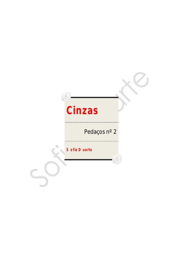 Cinzas         Pedaços nº 2  Sofia Duarte