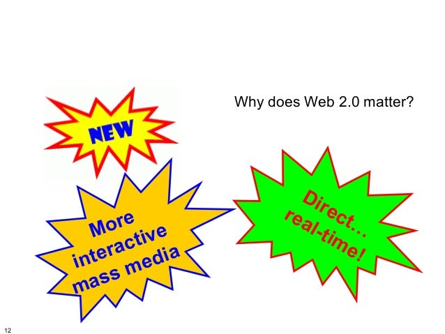 Why does Web 2.0 matter?                           Di                         rea rect         o re e       M tiv         ...
