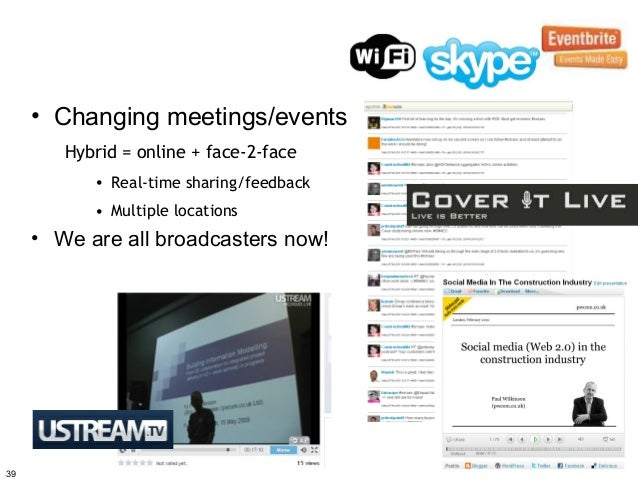 • Changing meetings/events        Hybrid = online + face-2-face           • Real-time sharing/feedback           • Multipl...