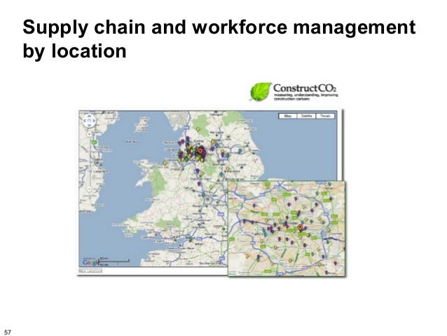 Supply chain and workforce management     by location57