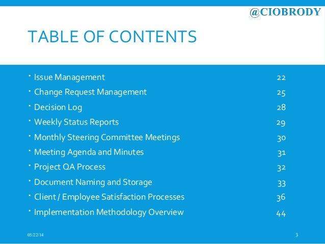 Ciobrody Pmo Methodology Overview