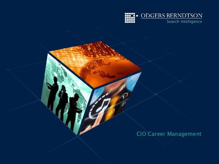 CIO Career Management