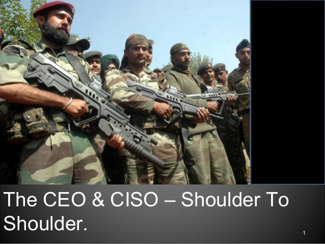 1 The CEO & CISO – Shoulder To Shoulder.