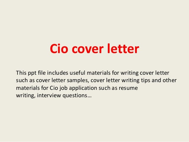 Cio Cover Letter This Ppt File Includes Useful Materials For Writing Cover  Letter Such As Cover ...  Cio Cover Letter