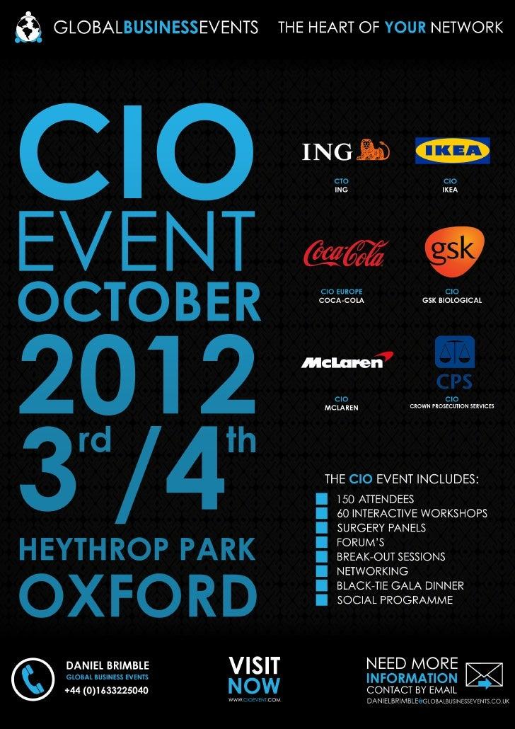 Cio event oct 2012