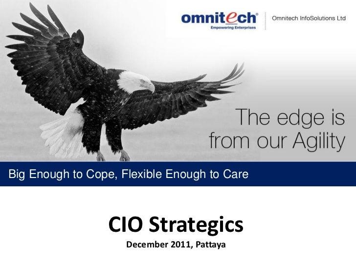 Big Enough to Cope, Flexible Enough to Care                 CIO Strategics                     December 2011, Pattaya