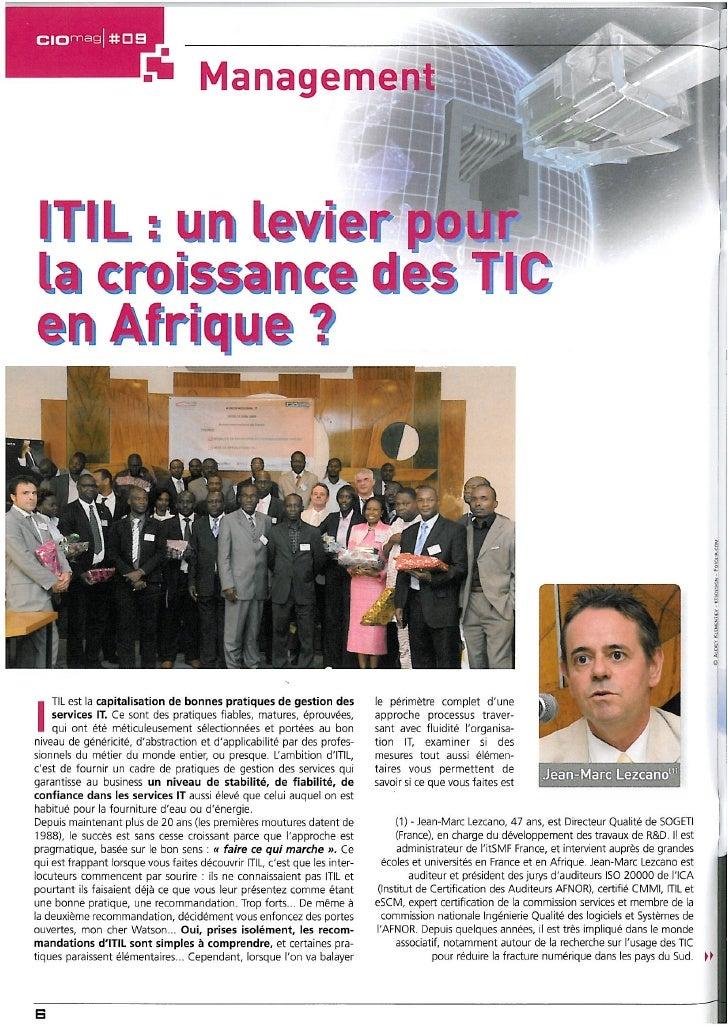 ITIL : un levier pour la croissance des TIC en Afrique ?