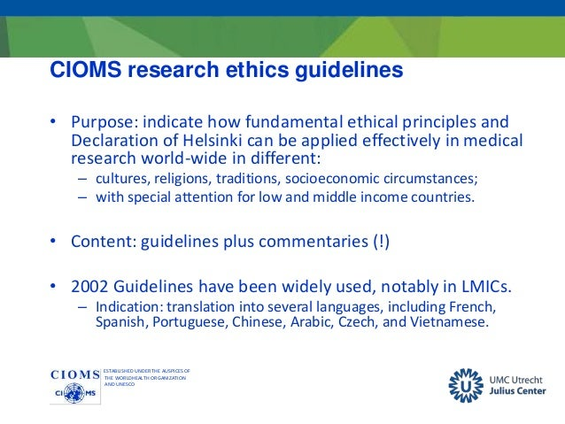 revision of the cioms ethical guidelines for biomedical research rh slideshare net cioms iii/v and vi guidelines CIOMS VII