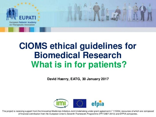 cioms ethical guidelines for biomedical research what is in for pati rh slideshare net CIOMS Reports CIOMS Reports